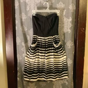Strapless striped dress xhilaration.